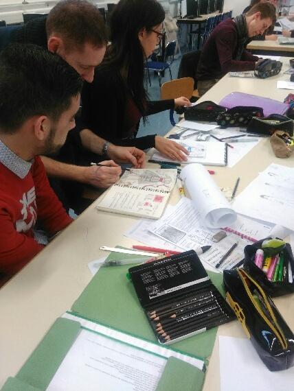 Gingolph intervient auprès des étudiants en Métiers de la Mode Vêtement.