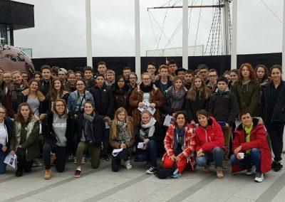 Samedi 18 mars à l'arrivée devant le dunbrody famine ship à New Ross