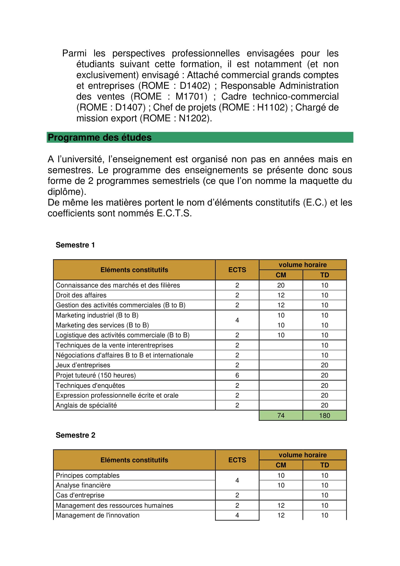 plaquette formation BTS négociation et relation client