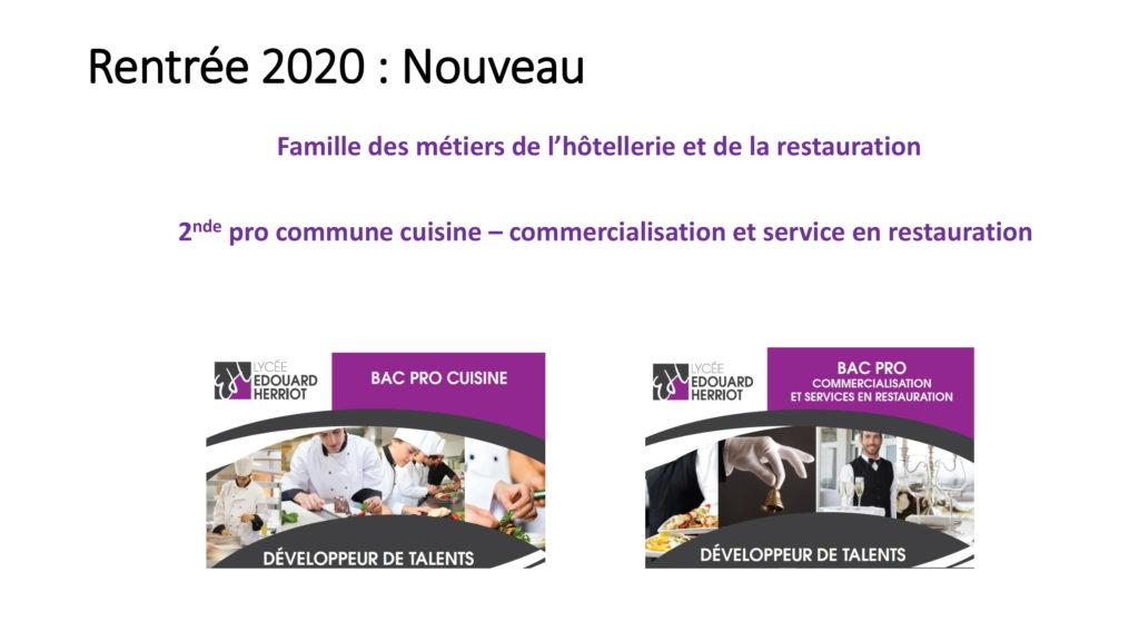 Nouveaut rentr e 2020 lyc e edouard herriot - Bac pro cuisine alternance ...