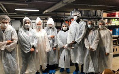 Les élèves de la classe PSR1 découvrent la restauration scolaire du lycée Edouard Herriot